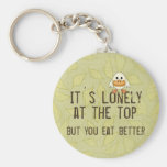 Lonely at the Top Keychain
