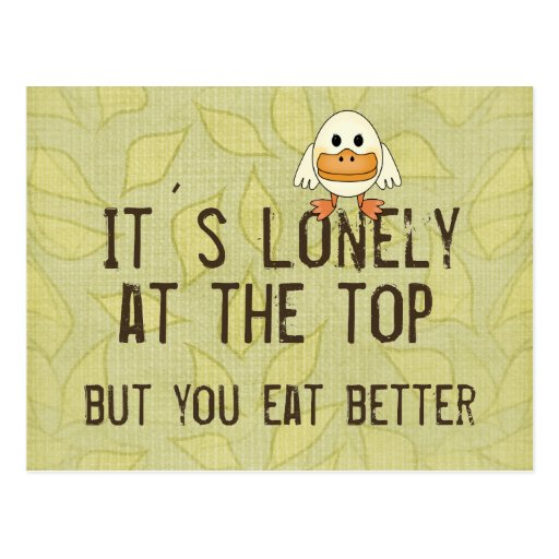 Lonely at the Top Postcard