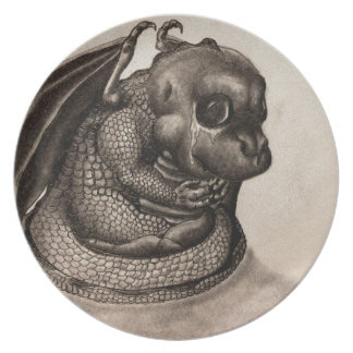 Lonely Baby Dragon Dinner Plate