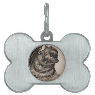 Lonely Baby Dragon Pet Tag