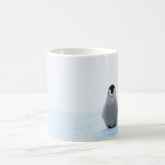Lonely baby penguin mug