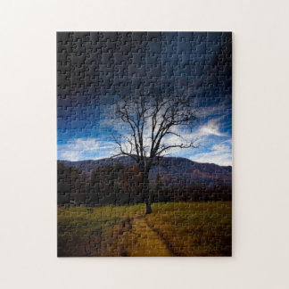 Lonely Bare Tree in Autumn Jigsaw Puzzle