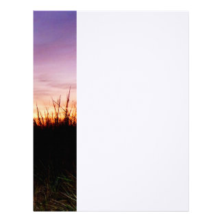 Lonely Beach at Sunrise Norfolk VA Letterhead