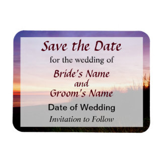 Lonely Beach at Sunrise Norfolk VA Save the Date Magnet