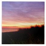 Lonely Beach at Sunrise Norfolk VA Tile