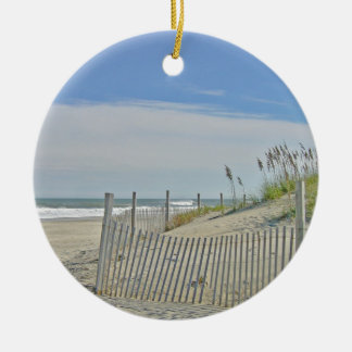 lonely beach ceramic ornament