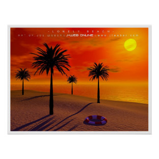 Lonely Beach Poster