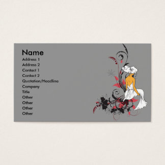 lonely beauty vector design business card