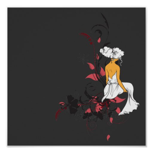 lonely beauty vector design poster