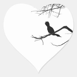 Lonely Bird Heart Sticker