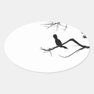 Lonely Bird Oval Sticker