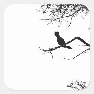 Lonely Bird Square Sticker