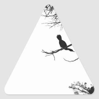 Lonely Bird Triangle Sticker