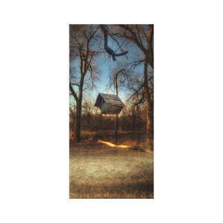Lonely Birdhouse Canvas Print