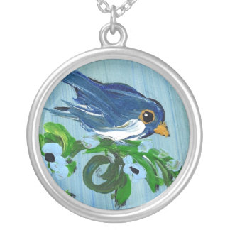 Lonely Blue Bird Personalized Necklace