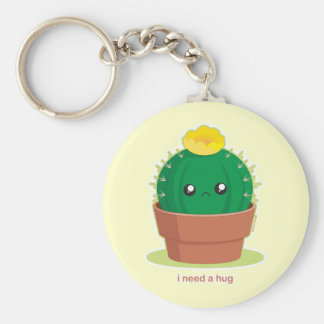 Lonely Cactus Basic Round Button Keychain