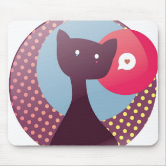 Lonely Cat Mouse Pad