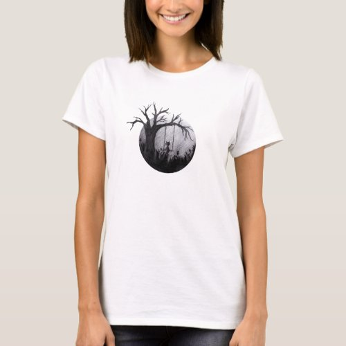 Lonely Cat T_Shirt