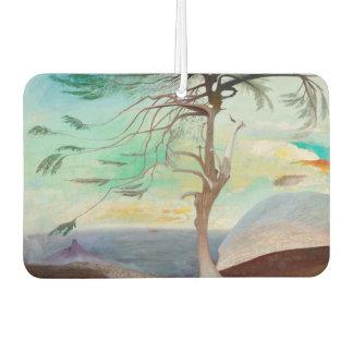 Lonely Cedar Tree Landscape Painting Air Freshener