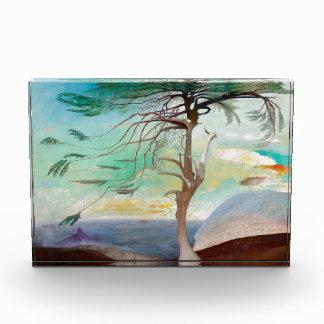 Lonely Cedar Tree Landscape Painting Award