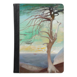 Lonely Cedar Tree Landscape Painting iPad Air Case