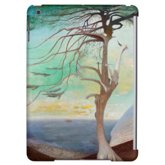 Lonely Cedar Tree Landscape Painting iPad Air Cover