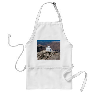 Lonely church in Greek mountains Standard Apron