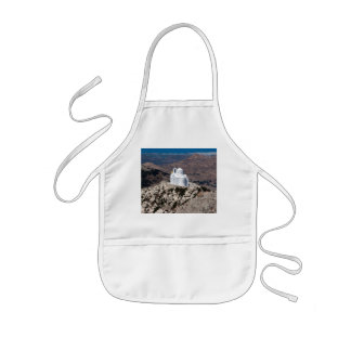 Lonely church in Greek mountains Kids Apron