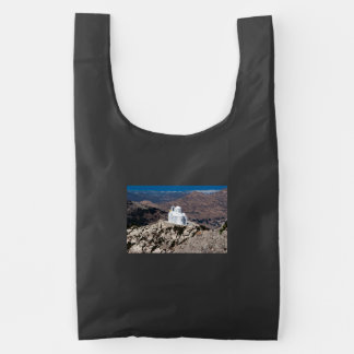 Lonely church in Greek mountains Reusable Bag
