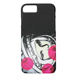 Lonely Cosmonaut painting on a Cell Phone Case