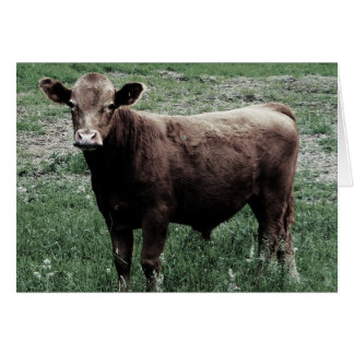 Lonely Cow Greeting Card