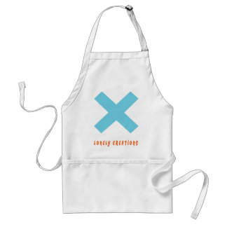 Lonely Creations Blue And Orange X Adult Apron