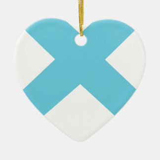 Lonely Creations Blue And Orange X Ceramic Ornament