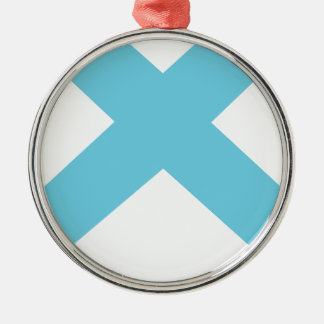 Lonely Creations Blue And Orange X Metal Ornament