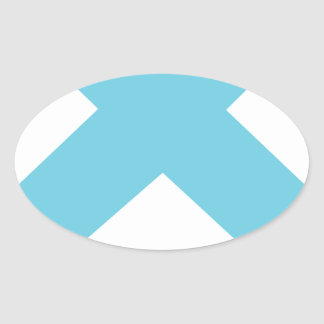 Lonely Creations Blue And Orange X Oval Sticker