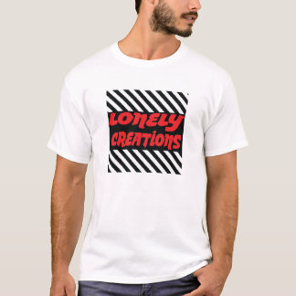 Lonely creations boxed stripe red and black T-Shirt