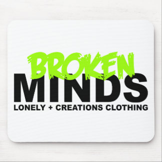 LONELY CREATIONS - Broken Minds Mouse Pad