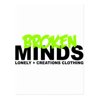 LONELY CREATIONS - Broken Minds Postcard