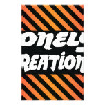 LONELY CREATIONS stripe orange Personalized Stationery