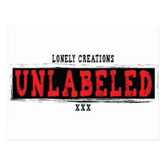 Lonely Creations UNLABELED red Postcard