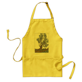 Lonely Cypress Adult Apron