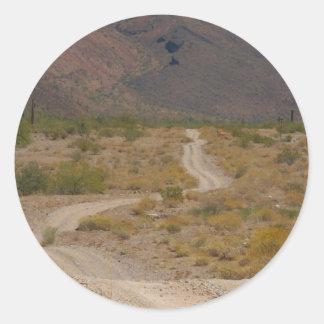 Lonely Desert Road 01 Sticker