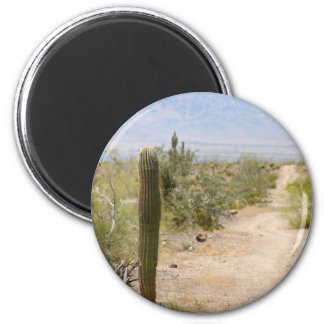 Lonely Desert Road 02 2 Inch Round Magnet