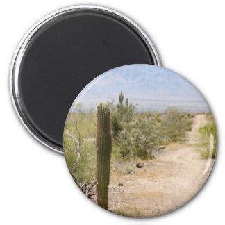 Lonely Desert Road 02 Magnets
