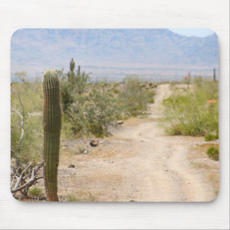 Lonely Desert Road 02 Mouse Pad