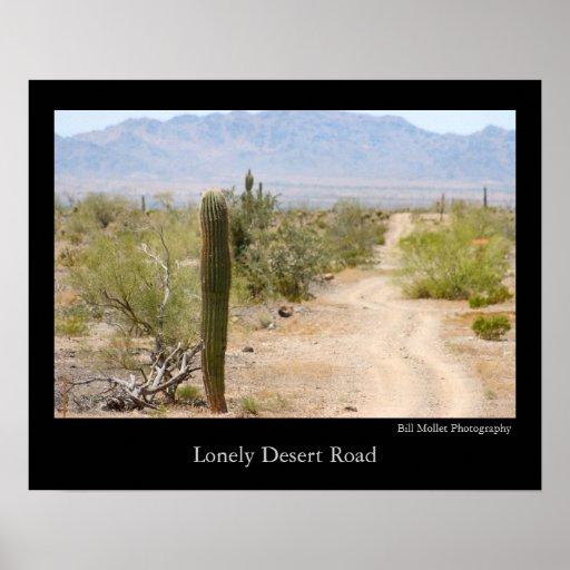 Lonely Desert Road Print