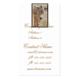 Lonely Donkey Business Card Templates