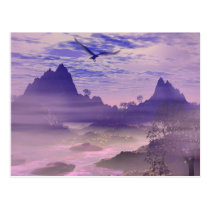 eagle, eagles, river, cfreek, mountains, scenery, scene, fantasy, fantasies, art, realism, magdestic, american, mystical, bueaty, bueatiful, clouds, fog, mist, misty, purple, skies, sky, sunset, sunsets, lakes, rivers, streams, Postcard with custom graphic design