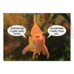 Lonely Fish Miss You Greeting Card