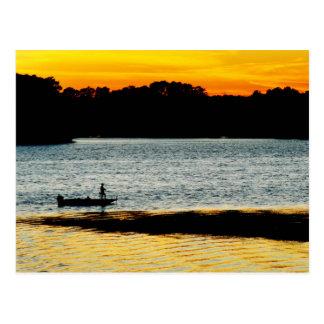 Lonely Fisherman Postcard